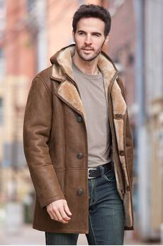 Dylan Hooded Shearling Sheepskin Coat