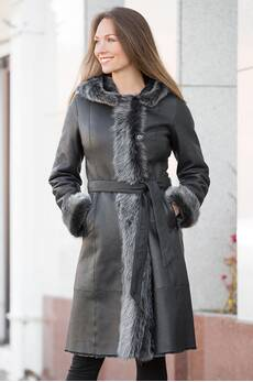 Mary Shearling Sheepskin Coat with Toscana Trim