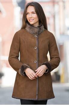 Adelaide Shearling Sheepskin Coat