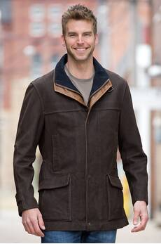 Richmond Lambskin Leather Field Coat