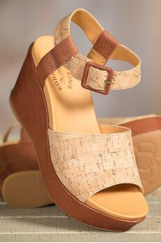 Women's Kork-Ease Kiern Leather Wedge Sandals
