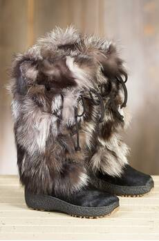 Women's Volpe Plus Shearling-Lined Fox Fur and Calfskin Boots
