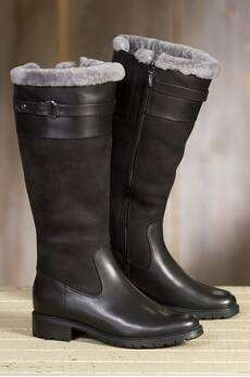 Women's Blondo Via Shearling-Lined Waterproof Leather Boots