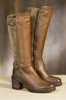 Women's Manas Marat Tall Leather and Suede Boots