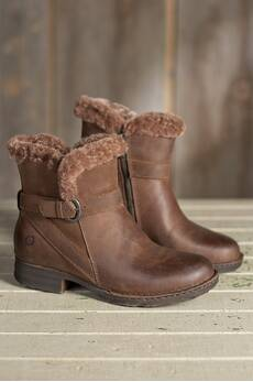 Women's Born Kaia Shearling-Lined Leather Boots