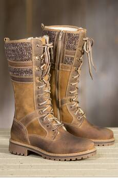 Women's Bos & Co Holden Wool-Lined Waterproof Leather Boots