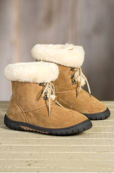 Children's Lamo Bianca Shearling-Lined Suede Boots