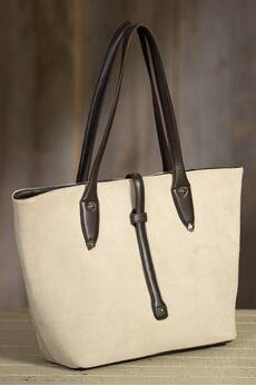 Overland Safford Suede Leather Tote Bag