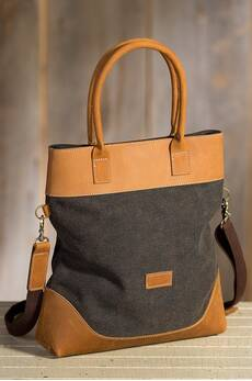 Overland Bremer Convertible Canvas and Leather Handbag