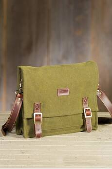 Overland Guthrie Canvas and Leather Messenger Bag