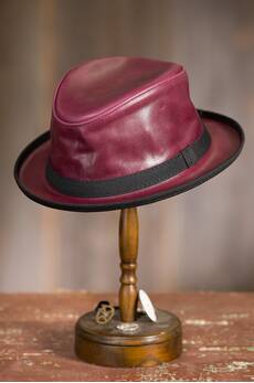 Soho Oiled Leather Fedora Hat