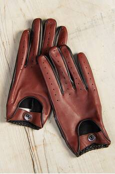 Men's Dents Woburn Lambskin Leather Driving Gloves