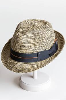 Paper Braid Fedora Hat