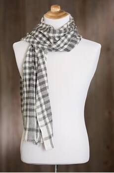 Overland Checked Indian Cashmere Scarf