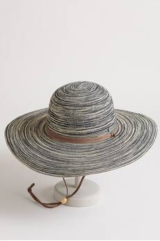 Wide-Brim Toyo Straw Floppy Hat